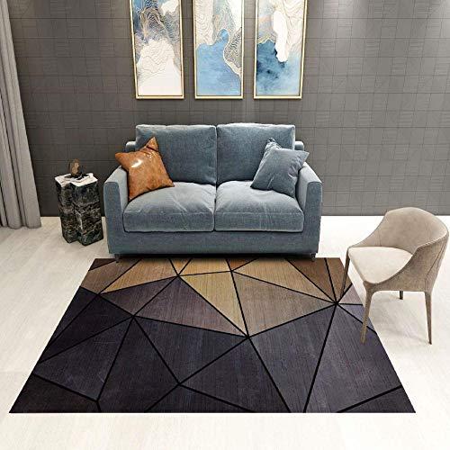 CCTYJ Gris marrón geométrico triángulo patrón Arte Simple Antideslizante cómodo Sala de Estudio Mesa de café decoración de Corredor carpet-160x230cm Calidad Precio relación demás Limpia