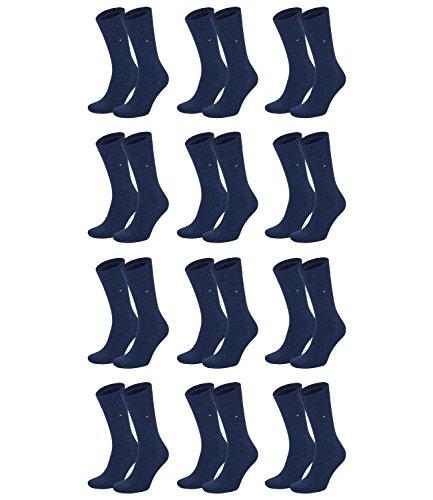 Tommy Hilfiger Herren Classic Business Socken 371111 12Paar, Farbe:Blau;Sockengröße:43-46;Artikel:Socken jeans 371111-356
