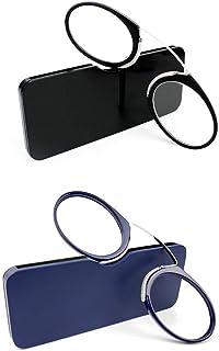 Uniseks leesbril, compacte zichthulp, mini-neusclip, beugelloze leesbril, antislip, altijd binnen handbereik