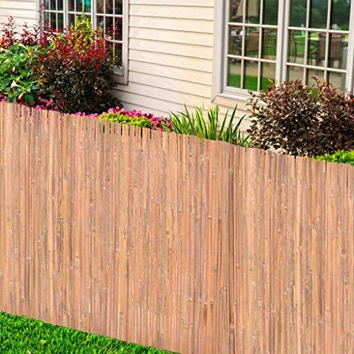 vidaXL Bambuszaun Bambusmatte Sichtschutzzaun Sichtschutz Gartenzaun Windschutz Sichtschutzmatte Zaun Balkon Garten Terrasse 125x400cm