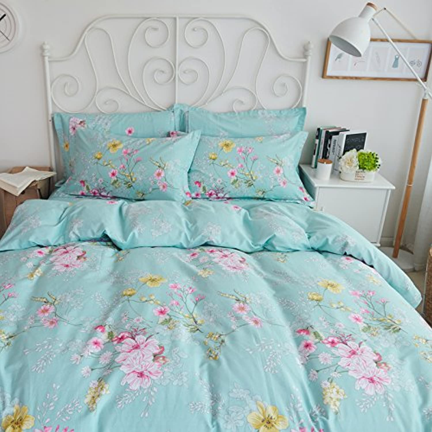 Lovely Cotton Duvet Cover Sets Bed Sheets & Pillowcase Sets,D Full B072KHF9SR