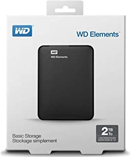 Western Digital WD Elements 2TB USB 3.0 Portable External Hard Drive (Black)