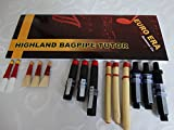 Scottish Bagpipe Drone & Reeds Set with Tutor Book