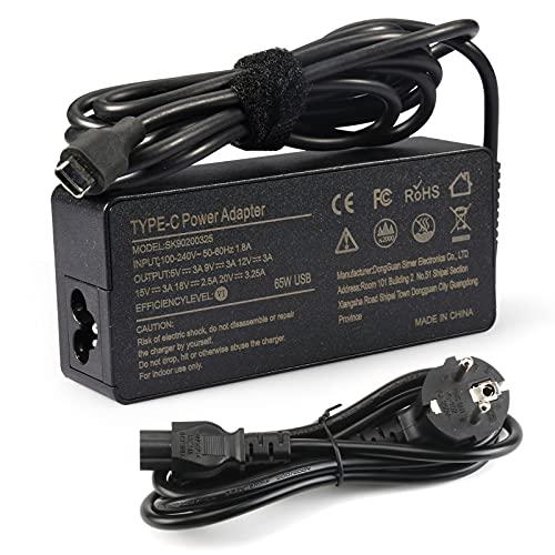 Nuevo 65W 20V 3.25A Tipo-C USB Adaptador de CA para Lenovo ThinkPad T480 T480s T580 T580s Yoga C930 C940 C740 S730 730 730S 910920 13 4x20m26268 Chromebook 100e 300e C330 N23 S330 E480 E580