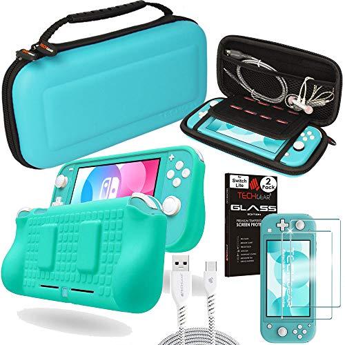 TECHGEAR Switch Lite Paquete de Accesorios: Funda y Protector de Pantalla para Nintendo Switch Lite, Funda Protectora rígida...