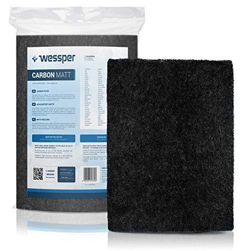 Wessper Filter Dunstabzugshaube Aktivkohle Zuschneidbar 38x56cm Aktiv-Kohlefilter für Abzugshaube Dunstabzug Dunstfilter Universal