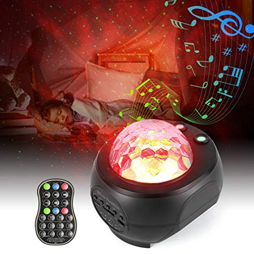 Star Projector, OUTAD Night Light Projector with 27 Modes of Galaxy, Nebula and Ocean Waves, Timing Function and Built-in Music Player, Suitable for Baby Bedroom, Game Rooms, Party