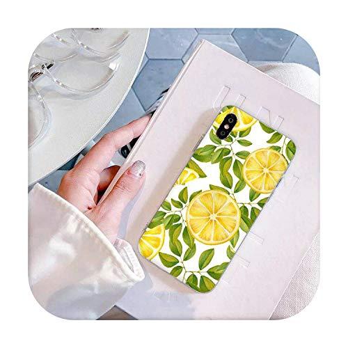 who-care Verano Hojas Verdes Frutas Limón Melocotón Granada Uvas Funda Teléfono Para Iphone 11 Pro Xs Max 8 7 6 6S Plus X 5 5S SE Xr