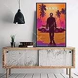 N / A Art Decor Classic Movie Protagonista Personaggi Caldi John Wick Drive Pulp Fiction Wall Art Canvas Painting Silk Poster50x60cm