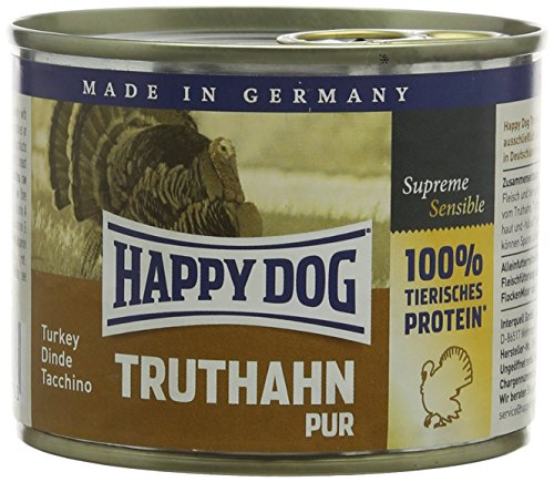 Happy Dog Cibo Umido per Cane Ipoallergenico Pure Turkey Grain Free - 200 gr
