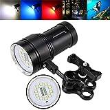 Taschenlampen,OHQ 10x XM-L2 + 4x R + 4x B 600LM Fotografie Video Tauchen Taschenlampe Fackel...