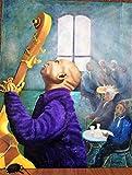 Cuadro al óleo'Fascinados por la música'