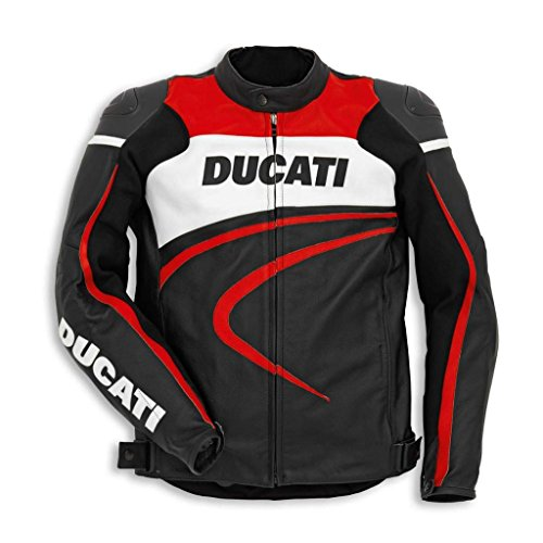 Ducati 981030350 Sport C2 Perforated Leather Riding Jacket - Black - Size 50