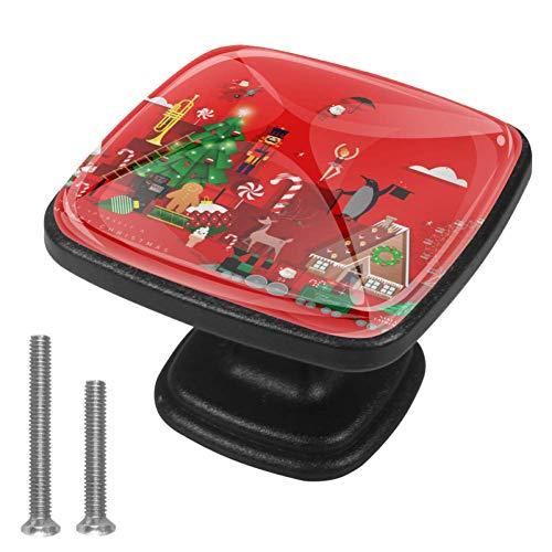 Tirador de cajón de almacenamiento con 8 tornillos para escritorio de ordenador, para el hogar, bricolaje, estudio, dormitorio, tienda de juguetes de Navidad