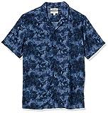 Amazon Brand - Goodthreads Men's Standard-Fit Short-Sleeve Camp Collar Hawaiian Shirt, Navy Tie Dye, XX-Large