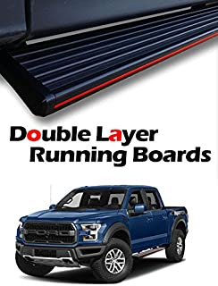 "MPH Auto 5.5"" Stylish Running Boards Custom Fit 2004 2005 2006 2007 2008 2009 2010 2011 2012 2013 2014 Ford F150 F-150 SuperCab (Super Cab) Black Side Step Bar (2pcs Mounting Brackets) mj-032-r"