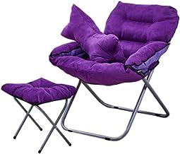 LJBH Creative Lazy Couch Chair Single Tatami Computer Chair, Home Fabric Leisure Chair Living Room Dormitory Folding Chai...