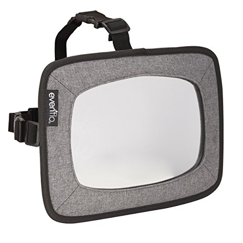 Evenflo Backseat Baby Mirror for Rear Facing Child, Grey Melange