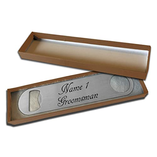 77c9b8d2b075 Personalised Bottle Opener - Wedding Favours- Groomsman- Gift Boxed