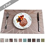 PREMIUM CARE Set of 4 Placemats for Table Heat-Resistant Skid-Proof Table Mats Dining Table Woven...
