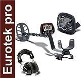 detector de Metales Teknetics Eurotek Pro 11' - Flat Head - Covers búsqueda Oro Monedas Metales Hierro