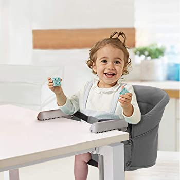HUGmeee ベビーチェア テーブルチェア チャイルドチェア ベビーテーブルチェア 赤ちゃんハイチェア 折り畳み携帯ベビーシート 子供 お食事椅子 6ヶ月から3歳まで 収納袋付き (グレー)