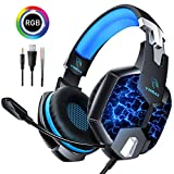 Casque Gaming PS4, YINSAN Casque Gamer pour Xbox One avec Micro Anti Bruit LED Lampe...