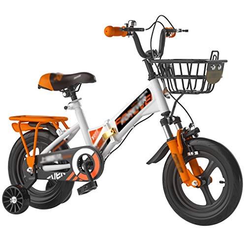 GAIQIN Durable Bicicletas para niños 2-3-4-6-7-10 años de Edad, niñas, niñas, Bicicleta, con estabilizantes, Bicicleta para niños pequeños con 85% ensamblado. (Color : 16inch)