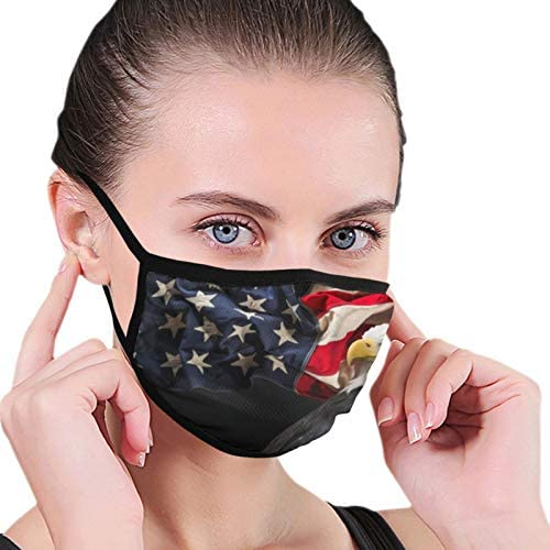 North American Condor Flag Balaclava Mouth Cover Reusable Breathable Face Decoration Ear Loops product image