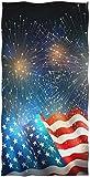 REFFW Toallas de baño para Invitados de usos múltiples Mano Chic Bandera Americana Fuegos Artificiales Suave Grande Bulldog Altamente Absorbente Decorativo para el baño del hogar Hotel Gimnasio SPA