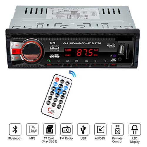 VIGORFLYRUN PARTS LTD 8258 12V 1 DIN Radio Reproductor