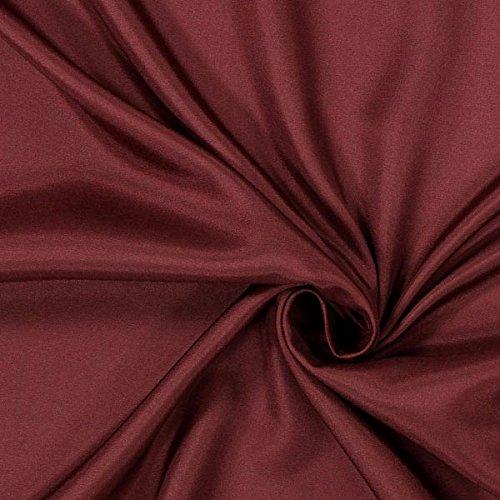 Fabulous Fabrics Futterstoff bordeauxrot, 140cm breit – zum Füttern von Jacken, Kleidern oder Mänteln - Meterware erhältlich ab 0,5 m