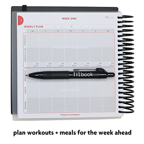 Product Image 4: Fitlosophy Fitbook: Fitness Journal and Planner for Workouts, Weight Loss and Exercise, Black Single (12-Week)