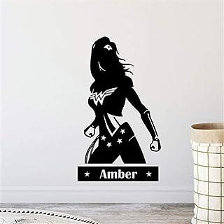 Adhesivo Personalizado Para El Nombre De La Niña De Wonder Woman Sala De Estar En El Hogar Sala De Juegos Sala De Juegos