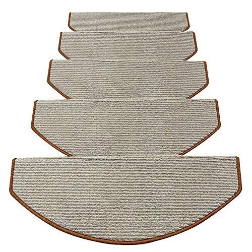FGHCHMY Scala per Scale - Tappeti, tappeti per Scale Tappeto 20 Set-Rettangolare (150x30cm) Tappeti Grandi |Lavabile |Auto-succhiare |Antiscivolo |Tappeto per scalino/Pad-Modern Fashion 5 Colori