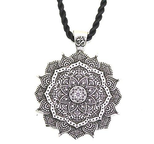 Juwel Halskette Anhänger Amulett Blume Mandala / Heilige Geometrie / Lotus Om buddhistischen Yoga Zen / Geschenk Original Unisex Frau Mann