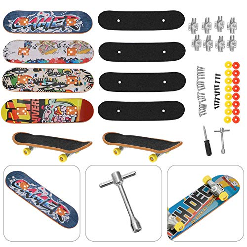 VORCOOL Finger Skateboard Kreative DIY Montage Skateboard Finger Skateboard Zubehör Werkzeug Kombination Sport Aufklärung Finger Skateboard (5Pcs Skateboard)