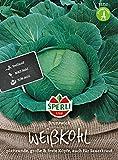 81212 Sperli Premium Weißkohl Samen Brunswijker   Mild und sehr Fein im Geschmack   Lagerfähig   Weißkohl Saatgut   Kohl Samen   Sauerkraut Samen