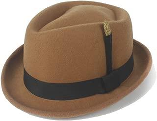 Hats and Caps Retro Hat Felt Wool Black Gold Feather Ladies Hat Classic Felt Hat Godfather Hat Jazz Hat Panama Hat (Color : Khaki, Size : 56-58CM)