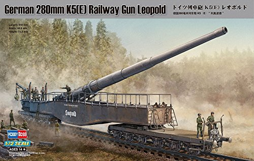 Hobby Boss 82903 Modellbausatz German 280mm K5(E) Railway Gun Leopold