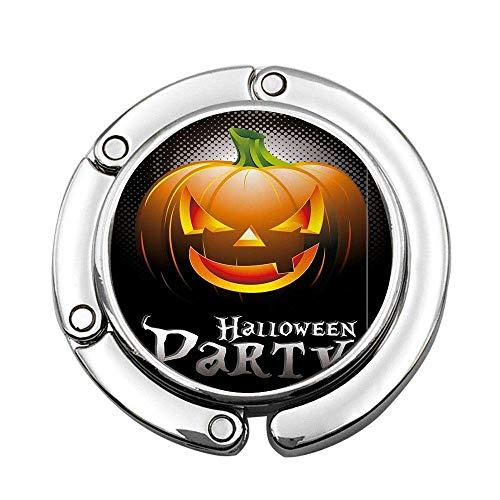 Tema de Fiesta de Halloween Calabaza aterradora sobre Fondo Moderno Abstracto Araña Soporte para suspensión Plegable Gancho de Mesa Universal