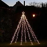 LED-Weihnachtsbaum 250 cm mit Stern beleuchtet mit 820 Micro-LED warmweiß für den Garten außen - 2