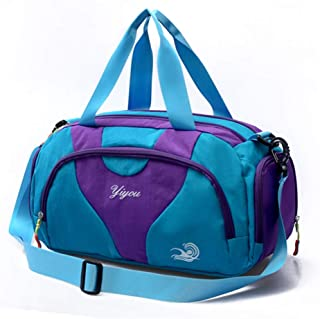 Sports Duffle Bag,Sports Gym Bag with Shoes Compartment and Wet Pocket for Men and Women (Color : E, Size : SMALL)