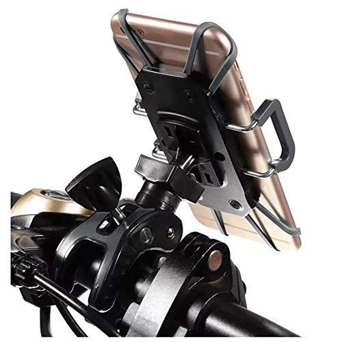 AAlamor 4.6-6inch Universele Motorfiets Fiets MTB Stuur Telefoonhouder Mount Grijs
