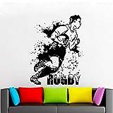 Football américain Stickers Muraux Rugby Jeu Ball Sport Sport Vinyle Décoration Murale Autocollants Garçons Chambre Chambre Décoration Affiche 42x55 cm