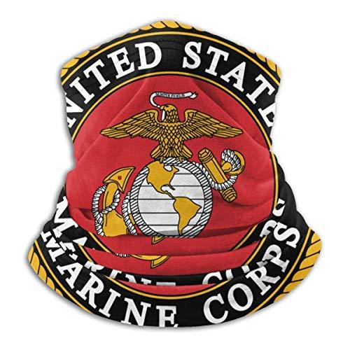 asdew987 USMC Marine Corps Logo Unisex Multifuncional Mascarillas lavables Bandanas al aire libre a prueba de viento bufanda cuello polaina pasamontañas