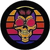 Zseeda Reloj de Pared Moderno Skull Sunset Retro para su Empresa o Marca Reloj silencioso Redondo Decorativo 9.8 '