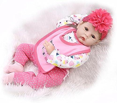 QXMEI Simulation Reborn Baby Doll 22 Zoll   55cm Kinderspielzeug Gliedmaßen Silikon Tuch   Geschenk Wiedergeburt Puppe