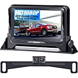 Backup Camera for Car HD 1080P with Monitor Kit License Plate Hitch Rear View Camera for Cars Trucks SUVs Campers Two Video Channels Support 2nd Camera for Baby Car Mirror Camera - Rohent R1