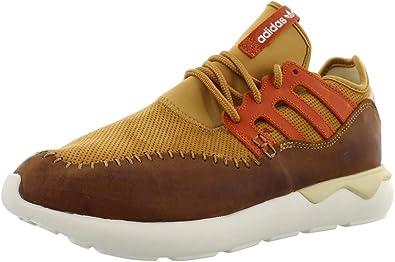 adidas Originals Tubular Moc Runner Mens Shoes Size 8.5, Color: Brown/Mustard/Orange/White